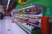超市三洋風幕柜 超市貨架冷柜 風冷展示柜 立式冷藏柜廠家