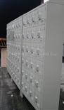 50门手机柜钢制斜顶式手机柜 钢制带底脚式手机柜 钢制车间防尘手机柜
