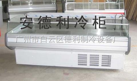 厂家直销冷冻熟食柜,超市鲜肉柜,熟食岛柜