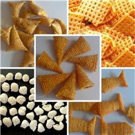 螺旋貝殼擠壓油炸食品生產線油炸型食品生產設備