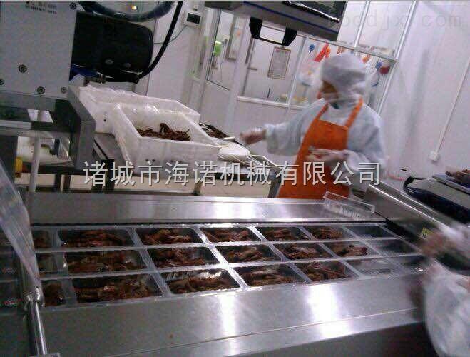 KIS1-4蔬菜保鲜真空包装机   塑料盒式锁鲜封口机