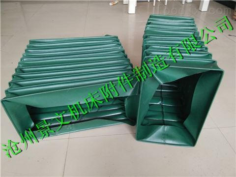绿色帆布耐温200度以下风道软连接生产