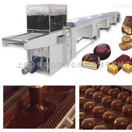 供应巧克力复合涂淋自动流水线/巧克力设备/巧克力涂淋机/HQ巧克力涂层设备