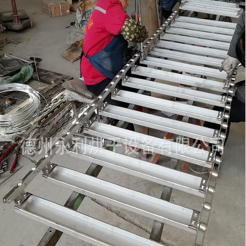 不锈钢U型链板 C型槽式扣板链 折弯成型链板适合大体积物料输送